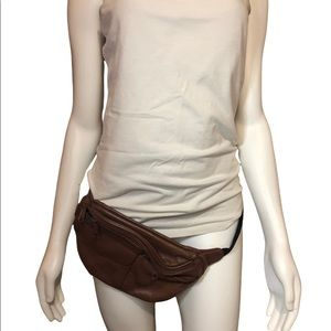 Genuine Leather Fanny Pack Hip Bag Purse